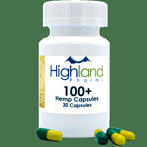 Highland Pharms 100mg CBD capsules