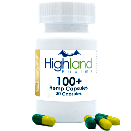 Highland Pharms 100mg CBD capsules