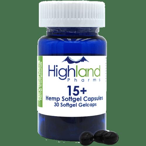Highland Pharms Hemp Softgel Capsules 15mg