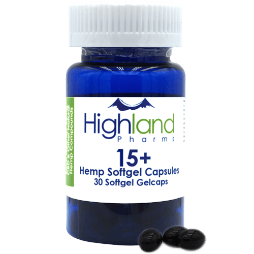 Highland Pharms Hemp Softgel Capsules 15mg