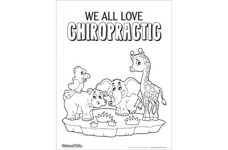 Chiropractic Coloring Sheet