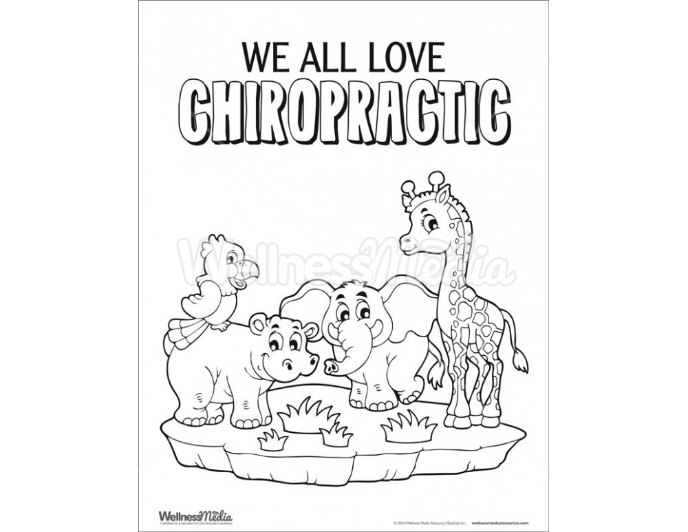 Chiropractic Kids Coloring Pages Sketch Coloring Page