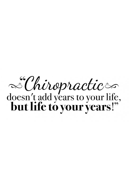 Chiropractic Years Decal