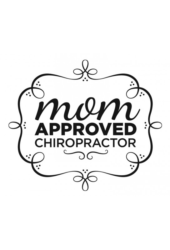 Mom Approved Chiropractor Decal Color Black Letters