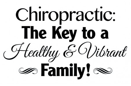 Chiropractic Vibrant Family Decal