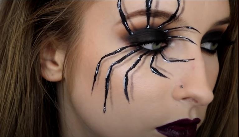 Spidery makeup look