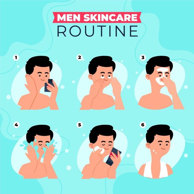 men's skincare routine