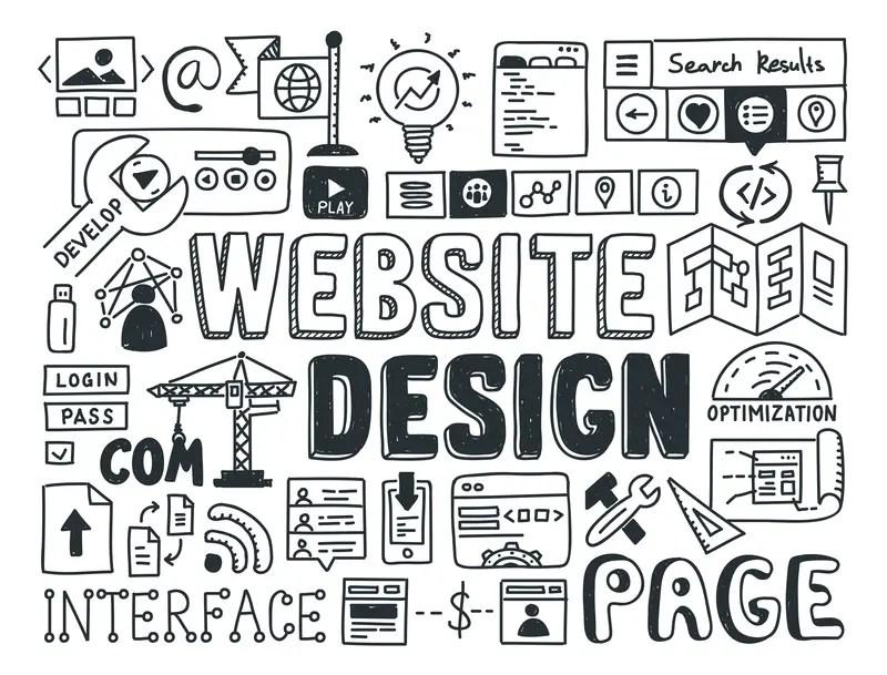 Website Design Text Graphic