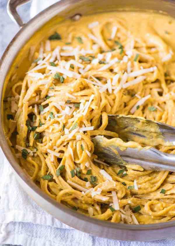 Creamy Pumpkin Pasta Sauce with Parmesan and Sage