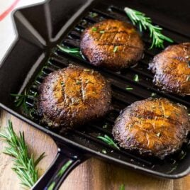 How to make the best Grilled Portobello Mushrooms. Easy, low-carb, vegan recipe that's great for a portobello steak, grilled portobello mushroom burger, and Meatless Monday dinners. The simple portobello mushroom marinade gives them incredible flavor!