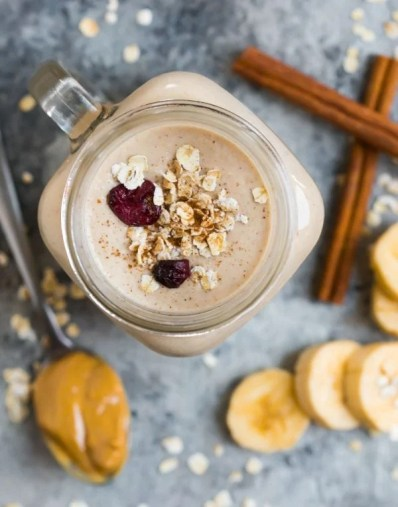 Oatmeal Smoothie {With Peanut Butter and Banana!} - WellPlated.com