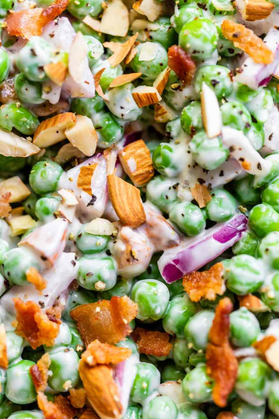pea salad with almonds