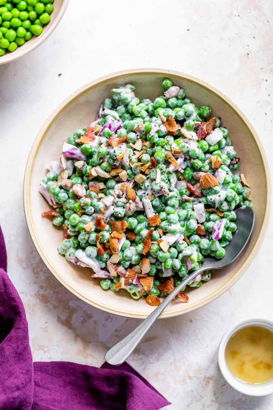 plate of healthy pea salad