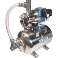 BurCam Stainless Steel Shallow Well Jet Pump with 6.6-Gallon Tank - 3/4 HP, 900 GPH, Model# 506547SS