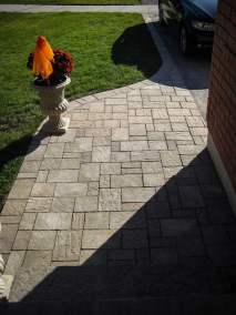 landscape Burlington stone work driveway and entrance