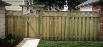 landscape Burlington wooden fence