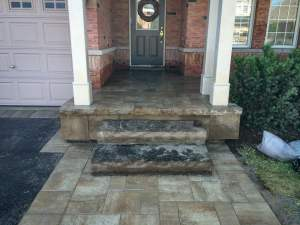 landscape Burlington entrance with stone steps