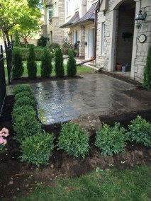 landscape burlington stone entrance patio