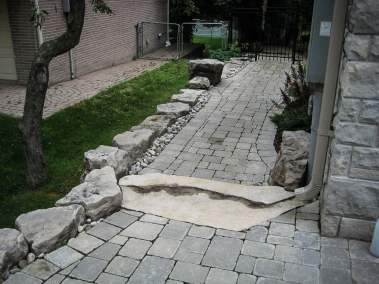 landscape Burlington stone work
