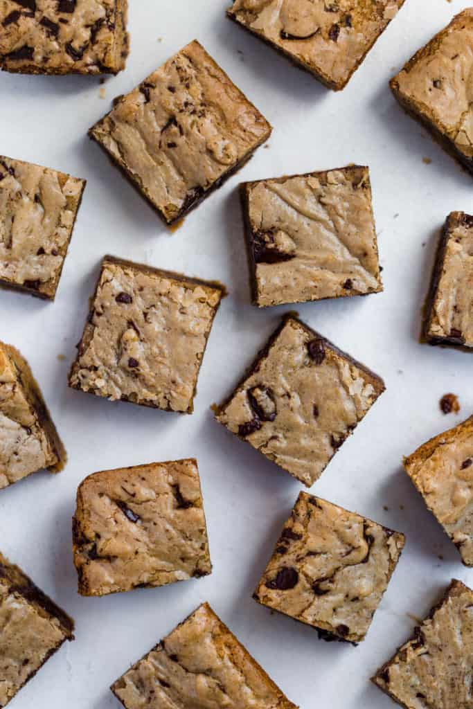 Dark Chocolate Chunk Browned Butter Blondies