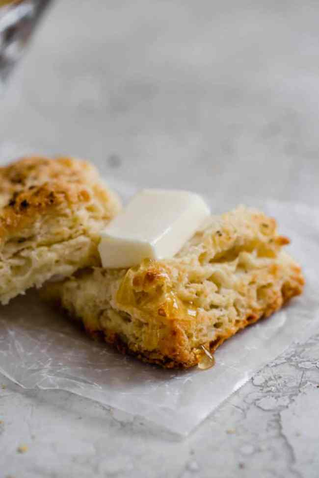 sage and cheddar biscuits with black pepper and rye