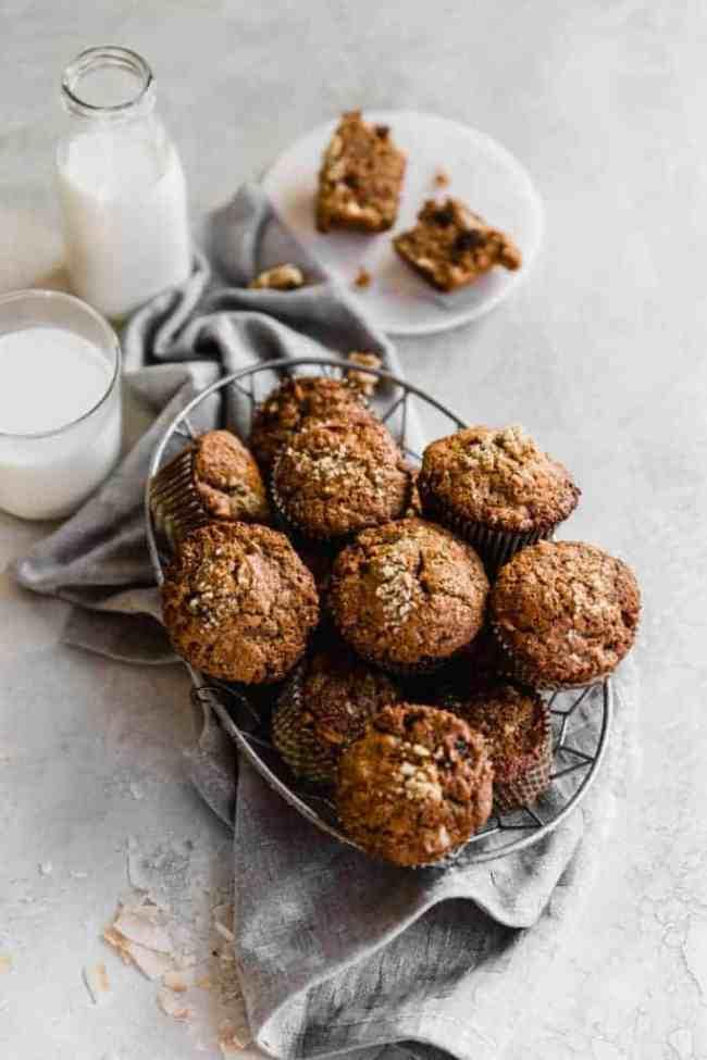 whole wheat morning glory muffins!