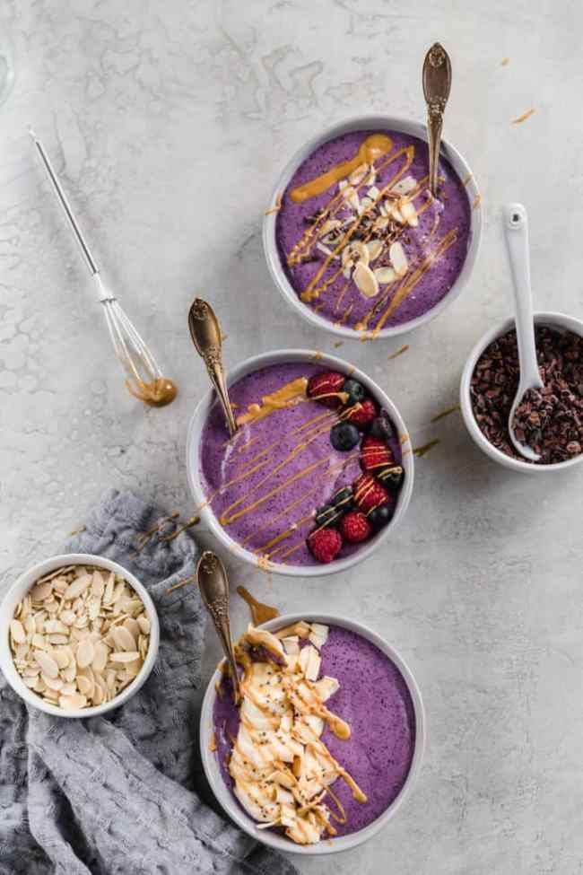 peanut butter smoothie bowls!
