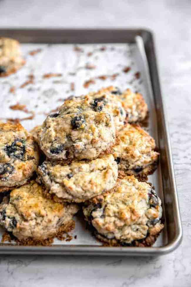 how to freeze blueberry scones