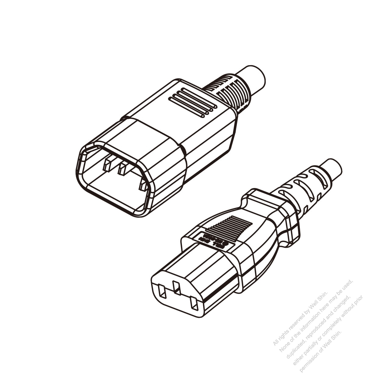 hight resolution of japan 3 pin iec 320 sheet e plug to iec 320 c13 power cord set