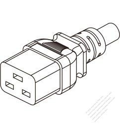 taiwan iec 320 c19 connectors 3 pin straight 15a 125v [ 1280 x 1280 Pixel ]