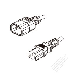 china 3 pin iec 320 sheet e plug to iec 320 c13 ac power cord [ 1280 x 1280 Pixel ]