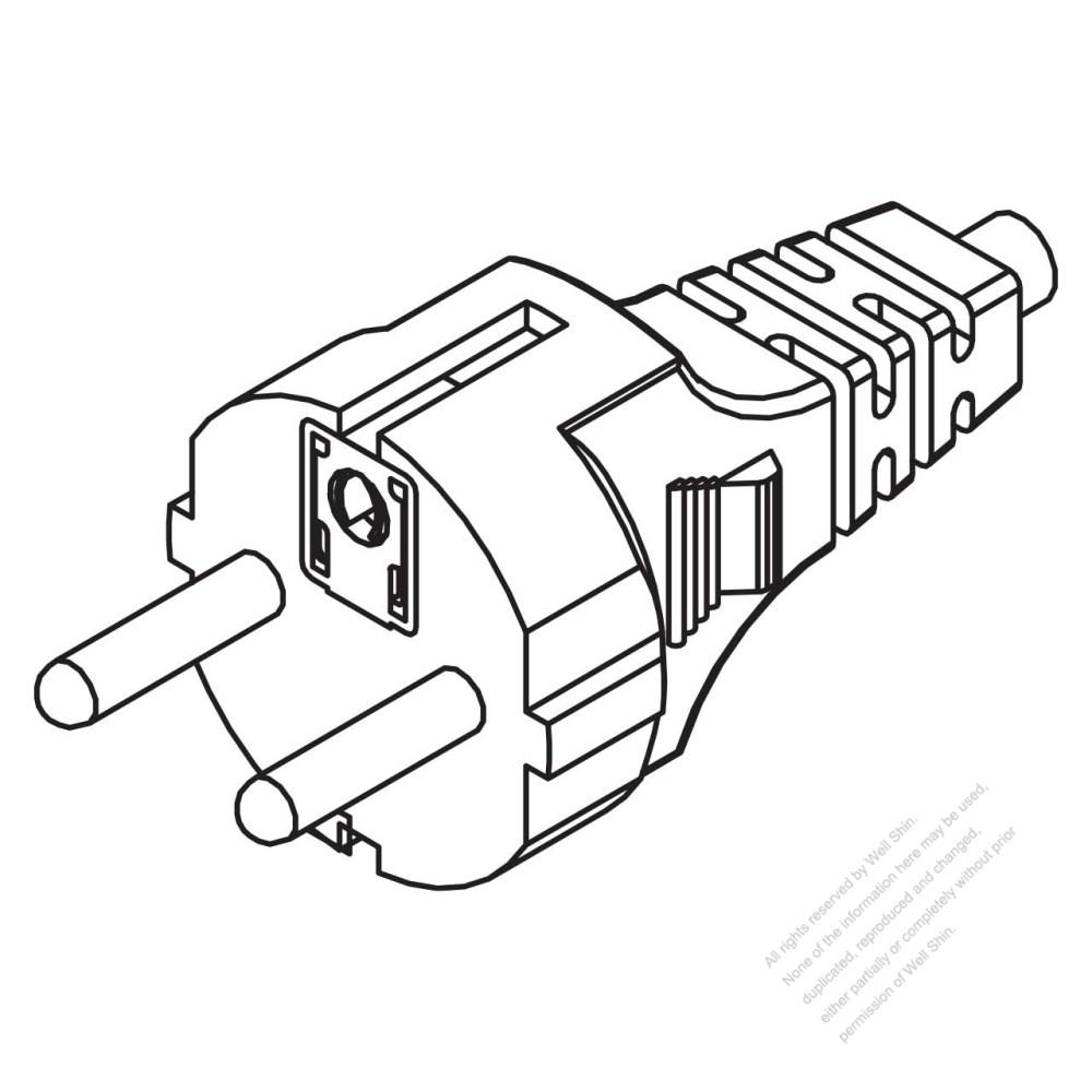 medium resolution of germany 3 pin straight ac plug 10 16a 250v