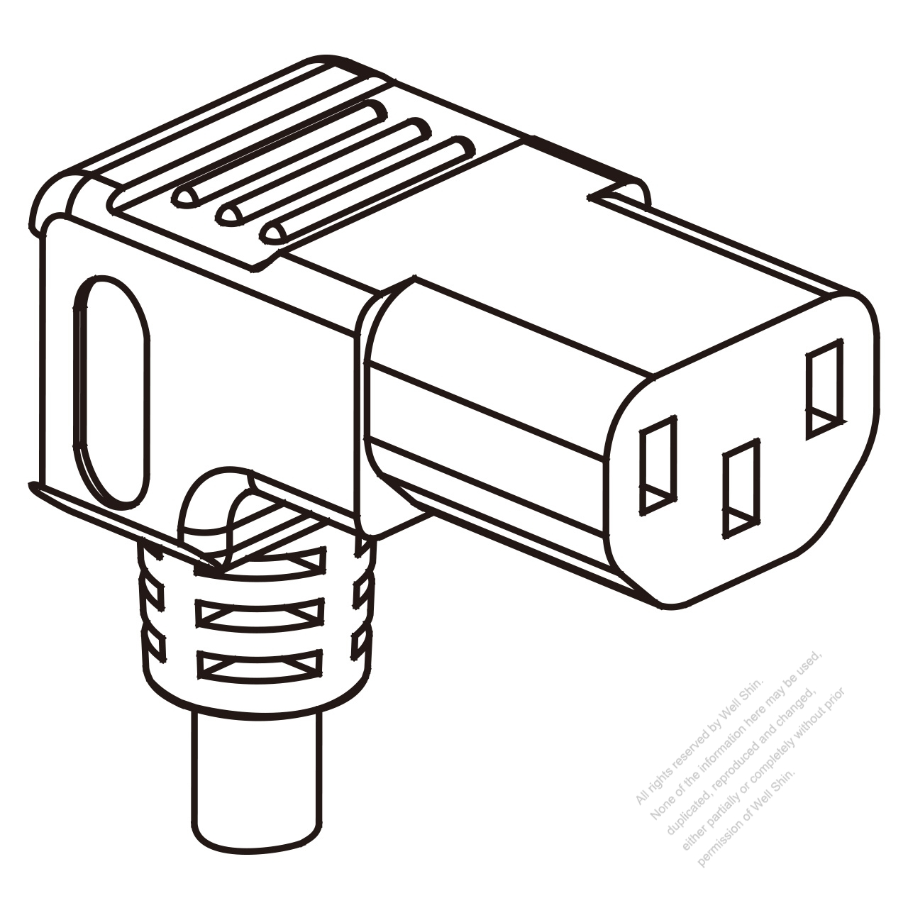 Russia Iec 320 C13 Connectors 3 Pin Angle 10a 250v