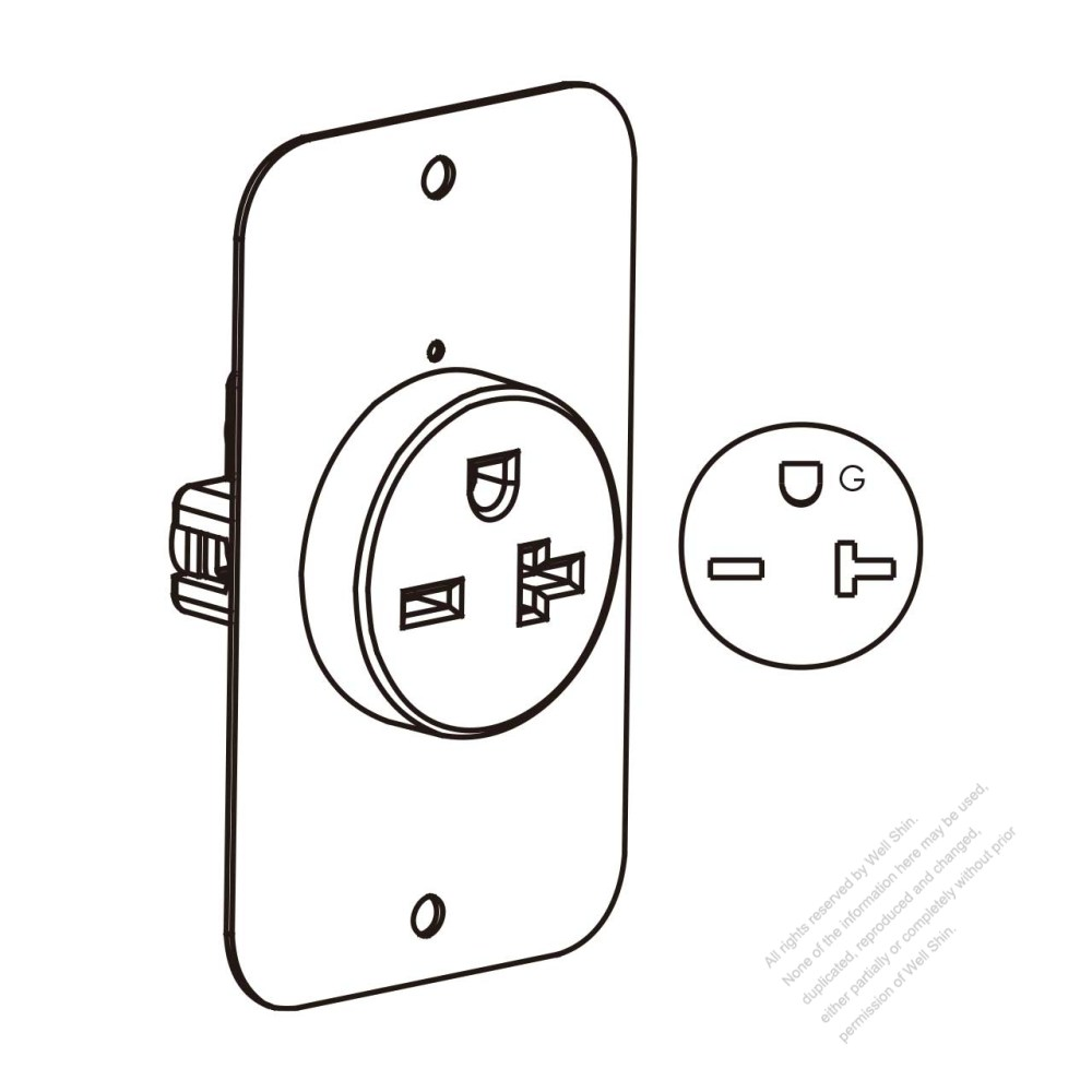 medium resolution of usa canada flush mount receptacle nema 6 15 20r 2 p 3