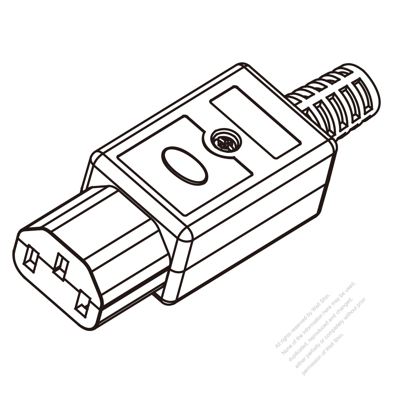 Iec 320 C13 Connector 3 Pin Pa High Temp Resistance