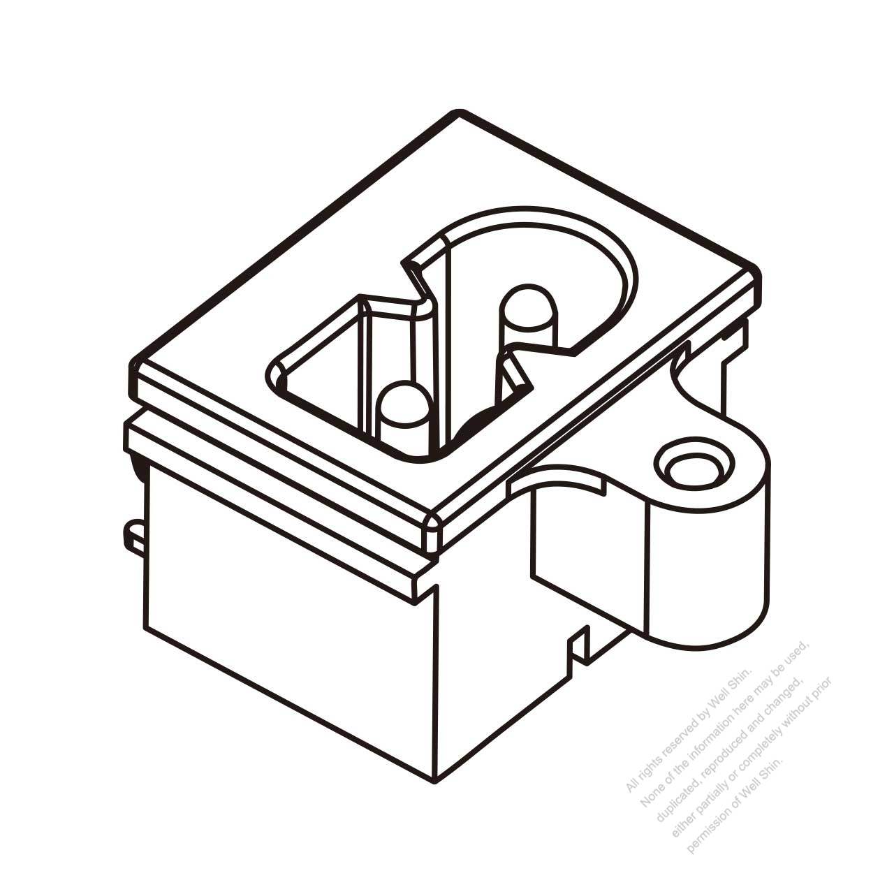 IEC 60320-1 (C8) Appliance Inlet (Polarity), Screw Type, 2