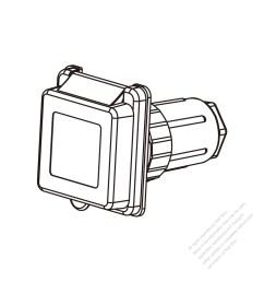 tw marine grade twist locking inlet nema ss2 50p standard power inlet watertight cap [ 1280 x 1280 Pixel ]