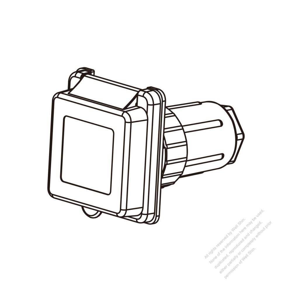 medium resolution of tw marine grade twist locking inlet nema ss2 50p standard power inlet watertight cap