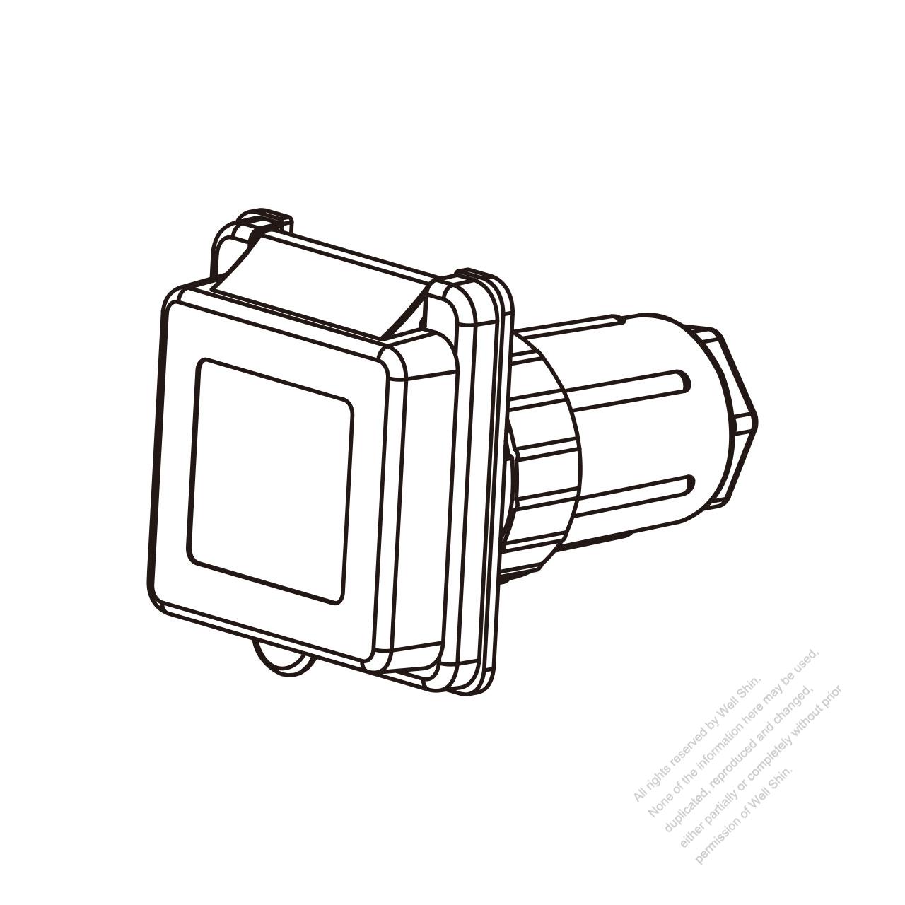hight resolution of tw marine grade twist locking inlet nema ss2 50p standard power inlet watertight cap