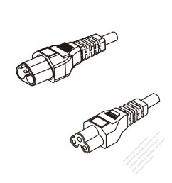 europe 3 pin iec 320 sheet a plug to iec 320 c5 ac power cord [ 1280 x 1280 Pixel ]