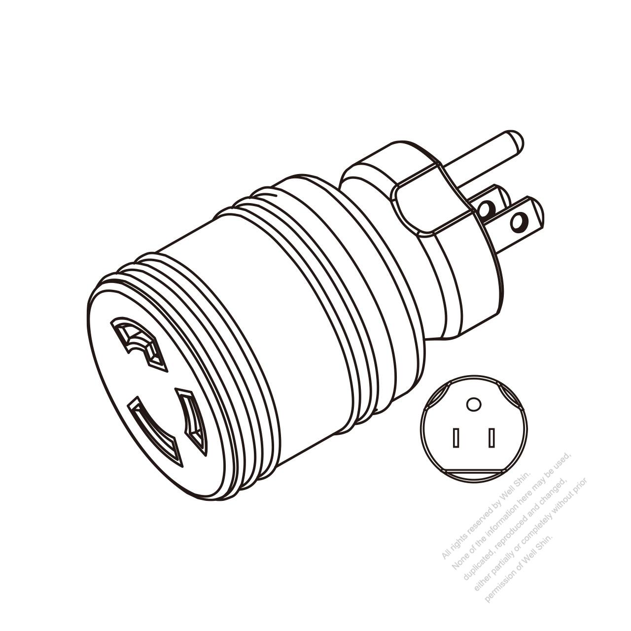 hight resolution of adapter plug nema 5 15p to l5 30r twist locking 2 p