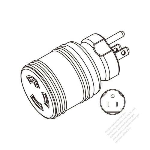 small resolution of adapter plug nema 5 15p to l5 30r twist locking 2 p