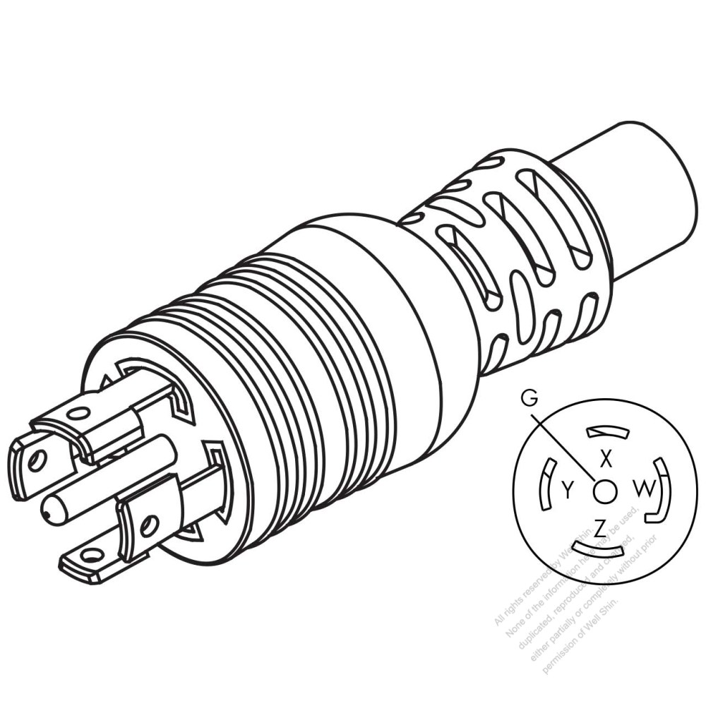 medium resolution of usa canada nema l22 20p twist locking ac plug 4 p 5