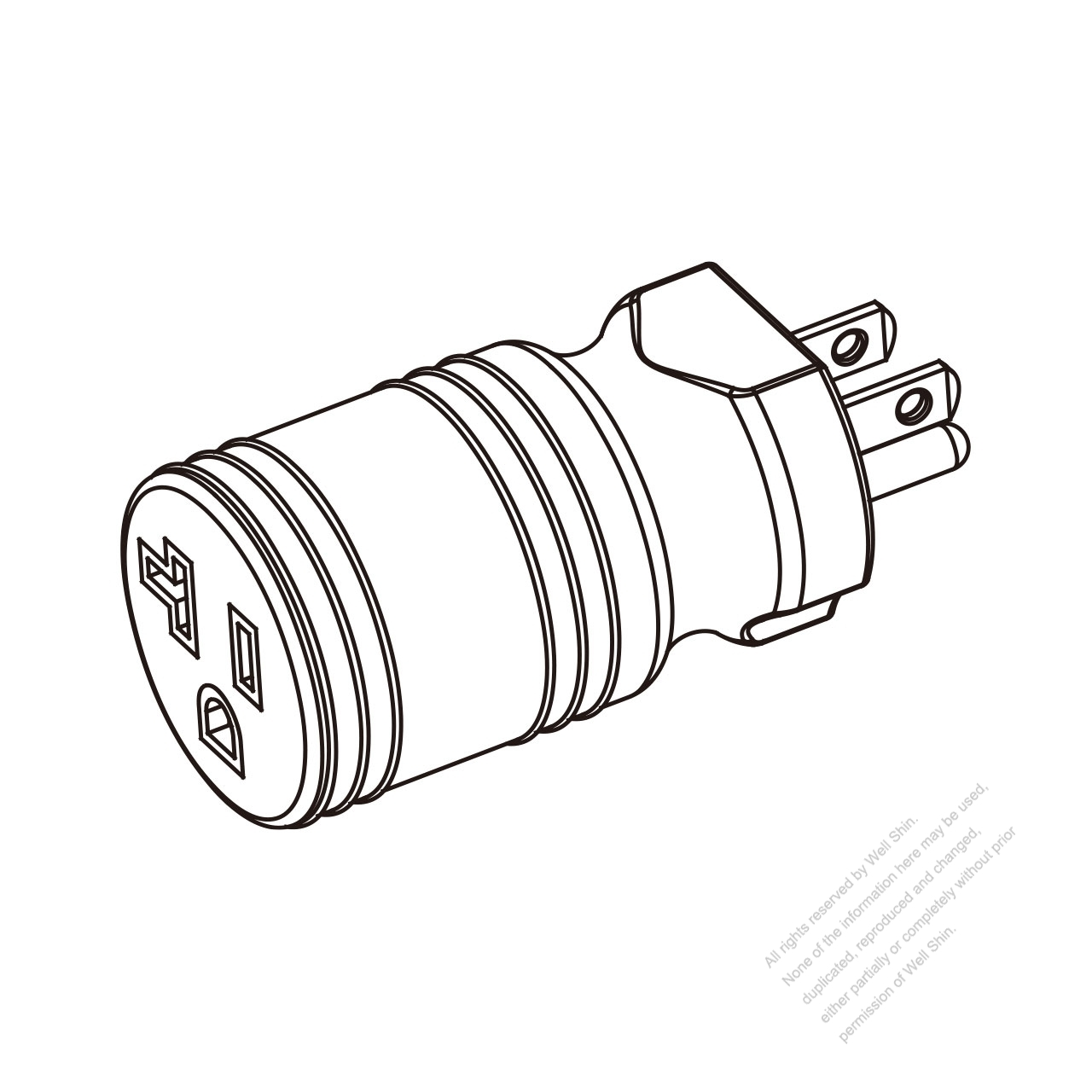 hight resolution of adapter plug nema 5 15p to nema 5 20r twist locking