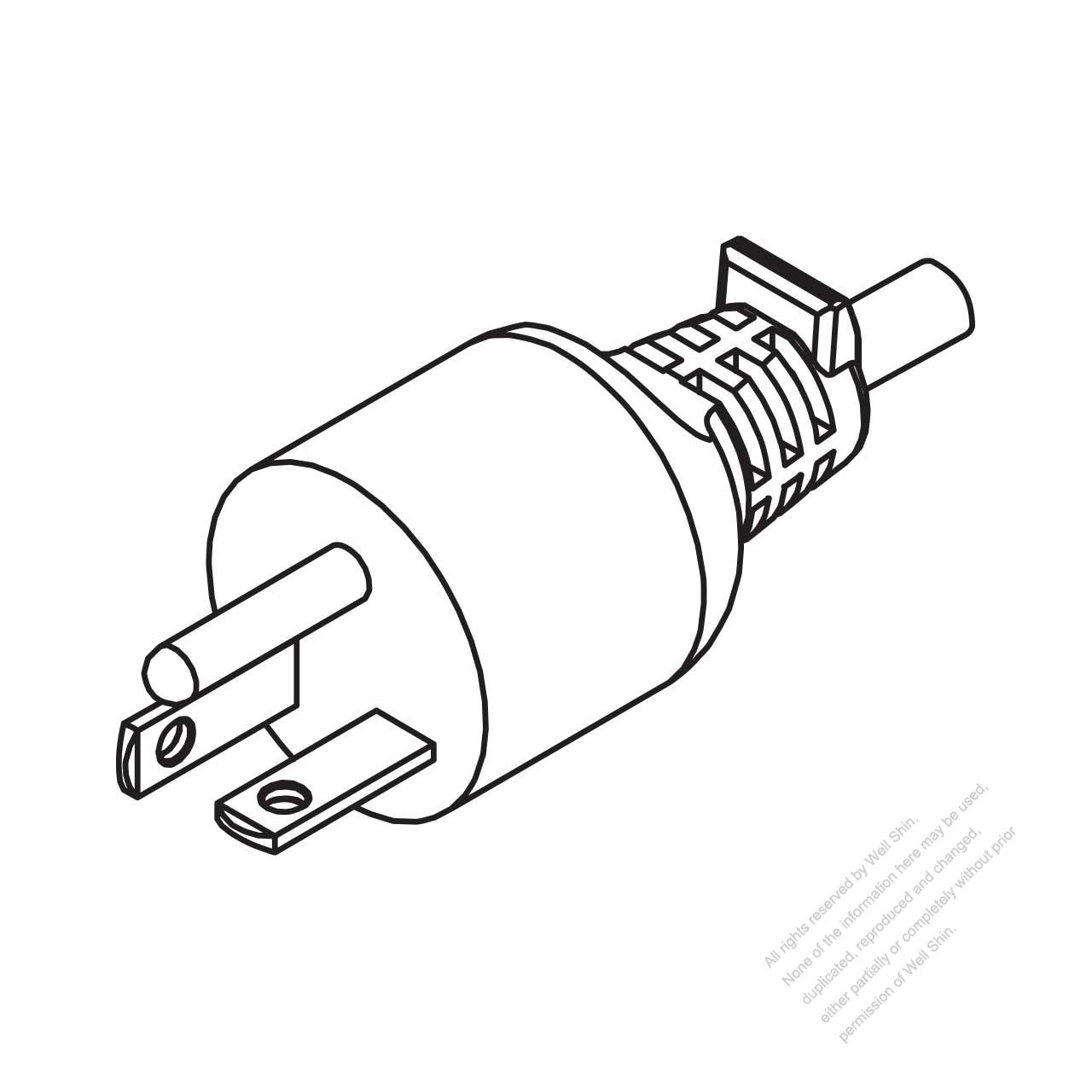 hight resolution of usa canada nema 6 20p straight ac plug 2 p 3 wire