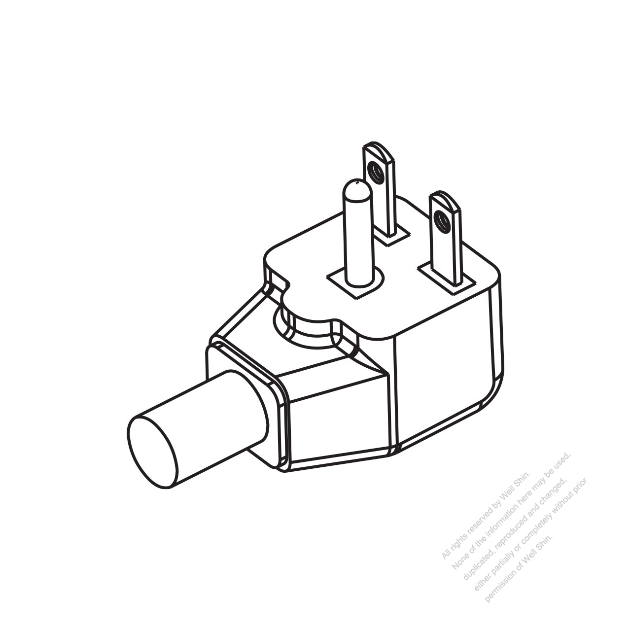 hight resolution of usa canada nema 6 15p elbow ac plug 2 p 3 wire