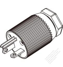 usa canada nema 6 20p 3 pin straight blade plug  [ 1280 x 1280 Pixel ]
