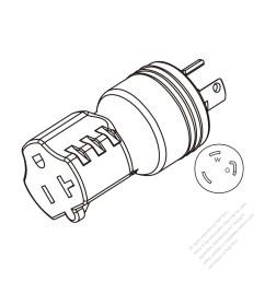adapter plug nema l5 30p twist locking to nema 5 20r 2 [ 1280 x 1280 Pixel ]