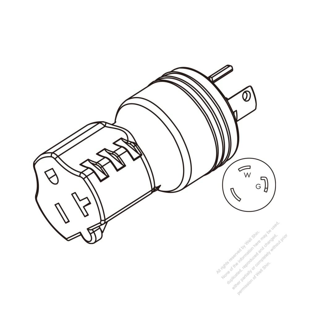 medium resolution of adapter plug nema l5 30p twist locking to nema 5 20r 2