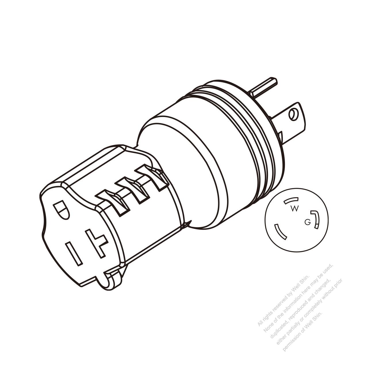 hight resolution of adapter plug nema l5 30p twist locking to nema 5 20r 2